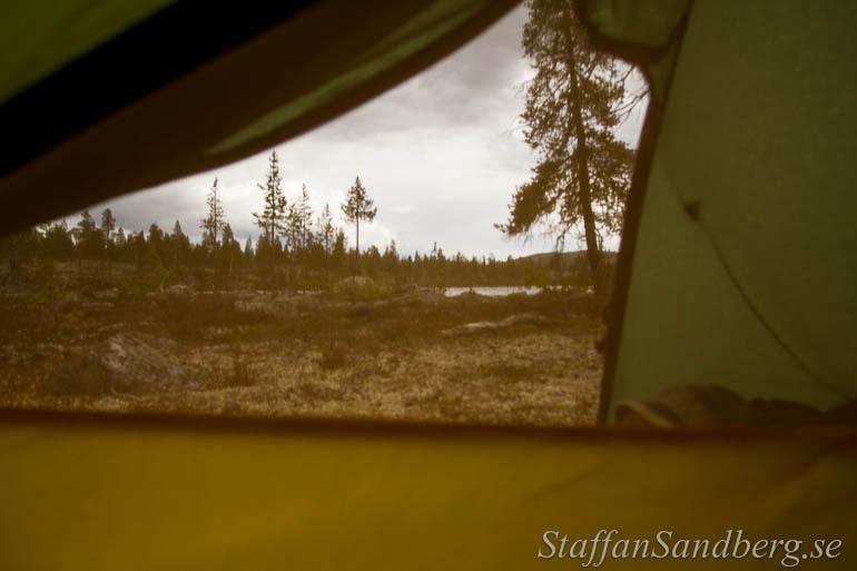 Utsikt fran tältet
