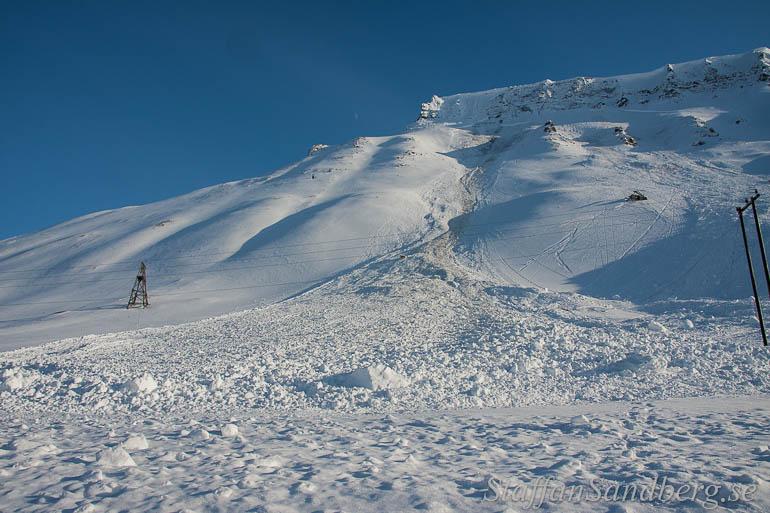 Lavin vid Longyearbyen