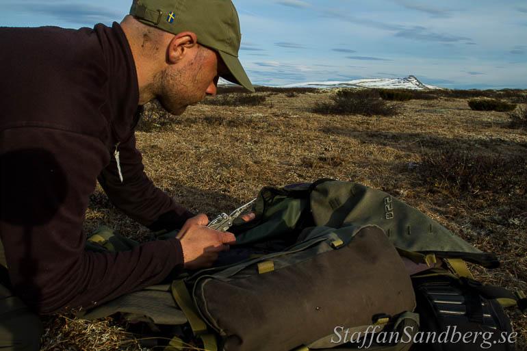 Reparation av ryggsäck.