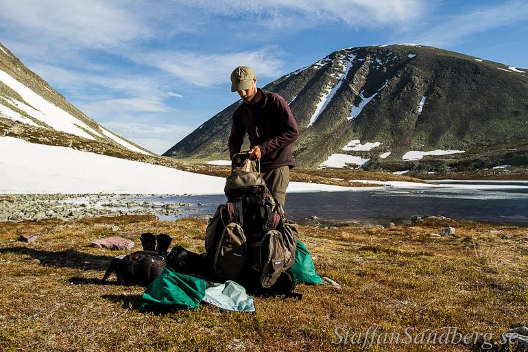Nedpackning av läger