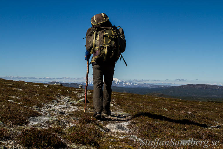 Mindre vikt i ryggsäcken betyder behagligare vandring.