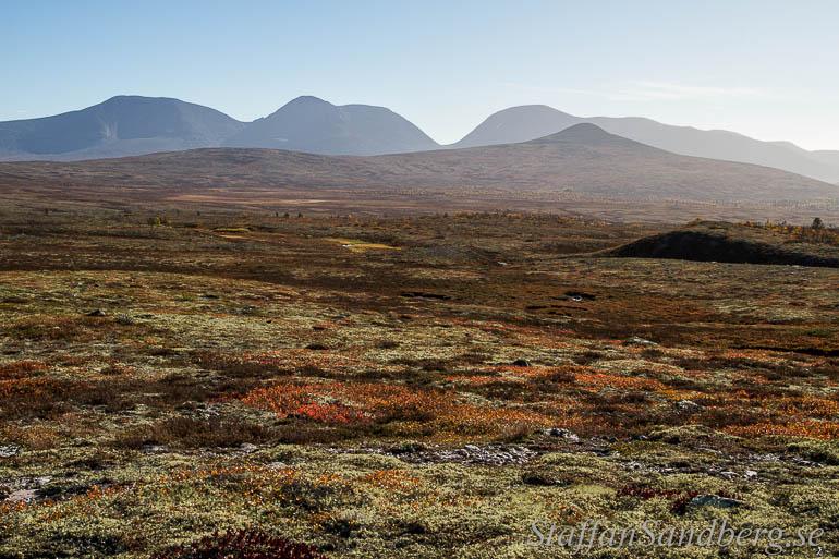Landskapsbild en solig dag med polarisationsfilter.