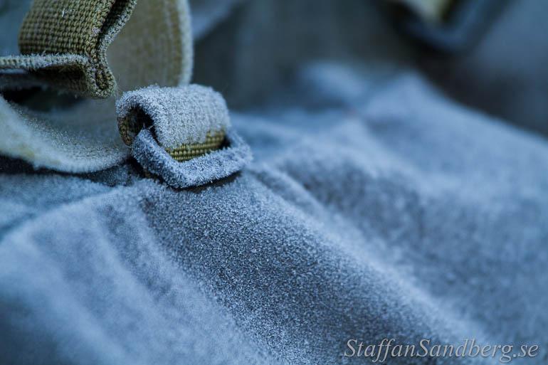 Frost på ryggsäck.