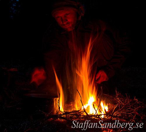 Matlagning över elden.