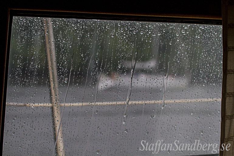 Regnigt fönster