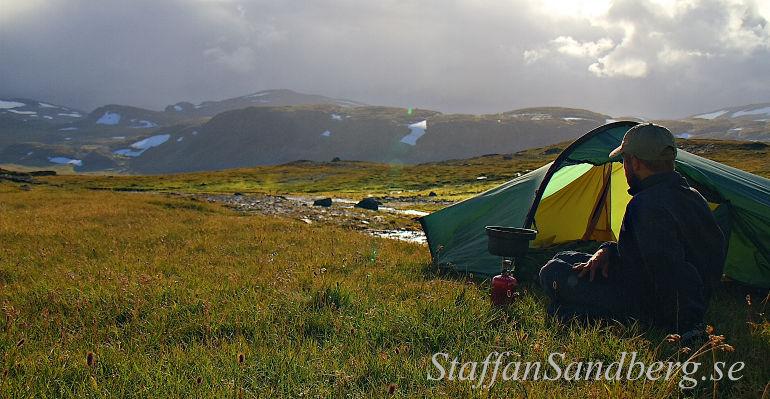 Tält och friluftskök